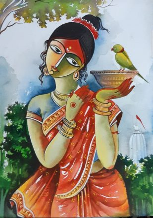 Indian Woman Art
